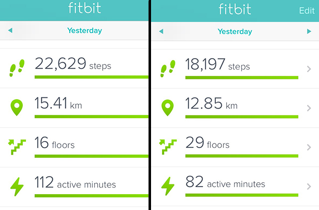 fitbit steps